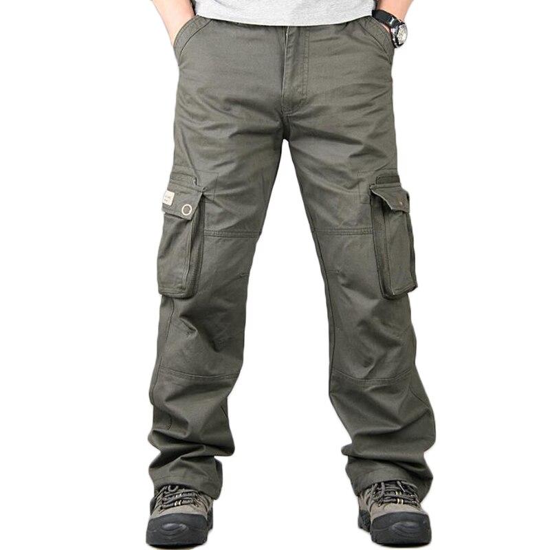 Брюки карго мужские, повседневные, уличные, свободные, комбинезоны, брюки, мужские, хлопковые, хип хоп, мешковатые, с карманами, тактические, спортивные штаны        АлиЭкспресс