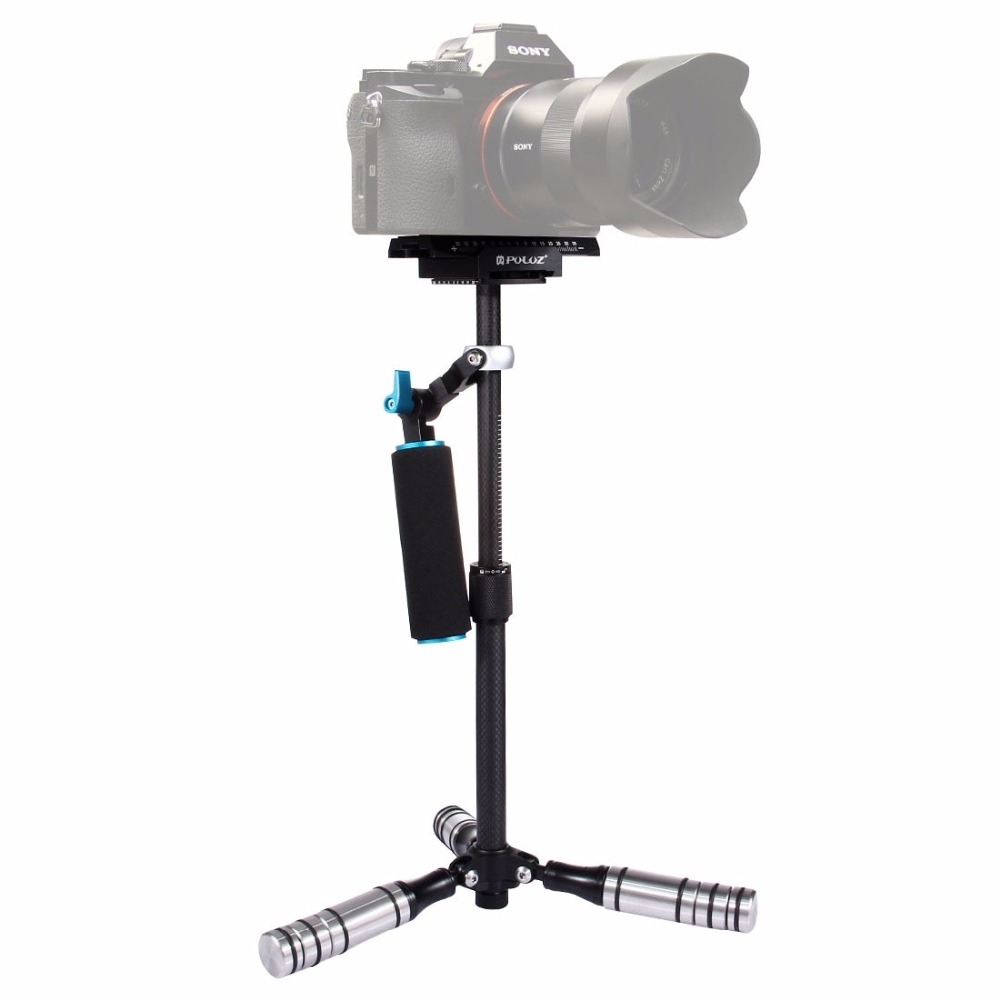 PULUZ P40T Carbon Fibre Handheld Stabilizer Steadicam for DSLR & DV Digital Video & Cameras, Capacity Range: < 5kg