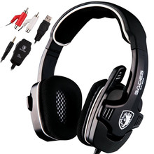 2016 SA-922 Pro PC Gaming Headset For XBOX 360 Surround Sound Stereo For PS3 Headphones with Microphone