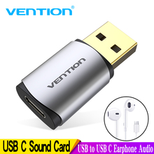 Vention External USB Sound Card to C Earphone Audio Adapter Soundcard for Laptop PS4 Type Gold plating