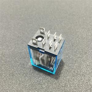 Image 5 - 10 zestawów LY2NJ 12VDC 24VDC 110VAC 220VAC mocą cewki przekaźnik Mini przekaźnik 8 Pins DPDT 10A LY2N J HH62P JQX 13F z PTF08A podstawa gniazda