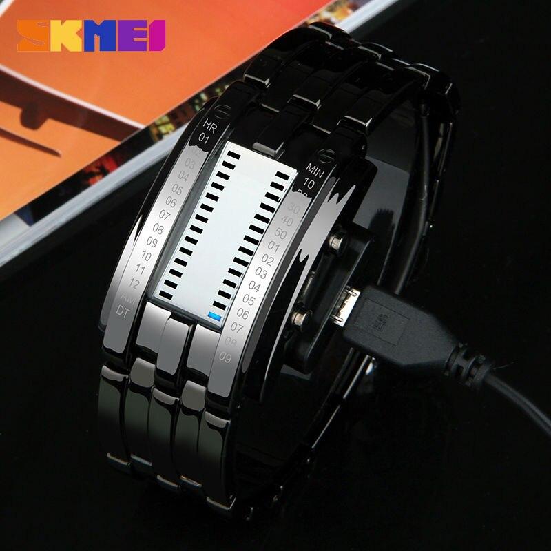 SKMEI Creative Fashion LED Smart Watches Men Sleep Tracker Pedometer Waterproof Sport Watch Digital Wristwatch Clock Smartwatch