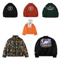 18FW Best Quality 1:1 HERON PRESTON Crane Printed Women Men Windbreaker Jackets Hiphop Men Padded Jackets Waterproof