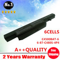 Wholesale New 6 cells Laptop battery for Clevo C4500 Series   6-87-C480S-4P4 C4500BAT-6 Free shipping