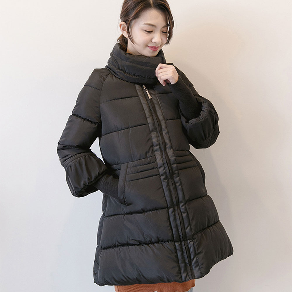 Turtleneck Maternity Winter Coat Fashion Thicken Cotton-padded Coats Pregnant Women Pregnancy Coats Outerwear Jackets 2XL Plus цена