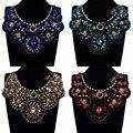 Statement Choker Necklace Glass Resin Collar Pendant Fashion Jewelry