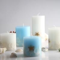 3pcs/set Scented candles Sea breeze shell starfish Romantic Aromatherapy Pillar candle Festival wedding gift Smokeless candles
