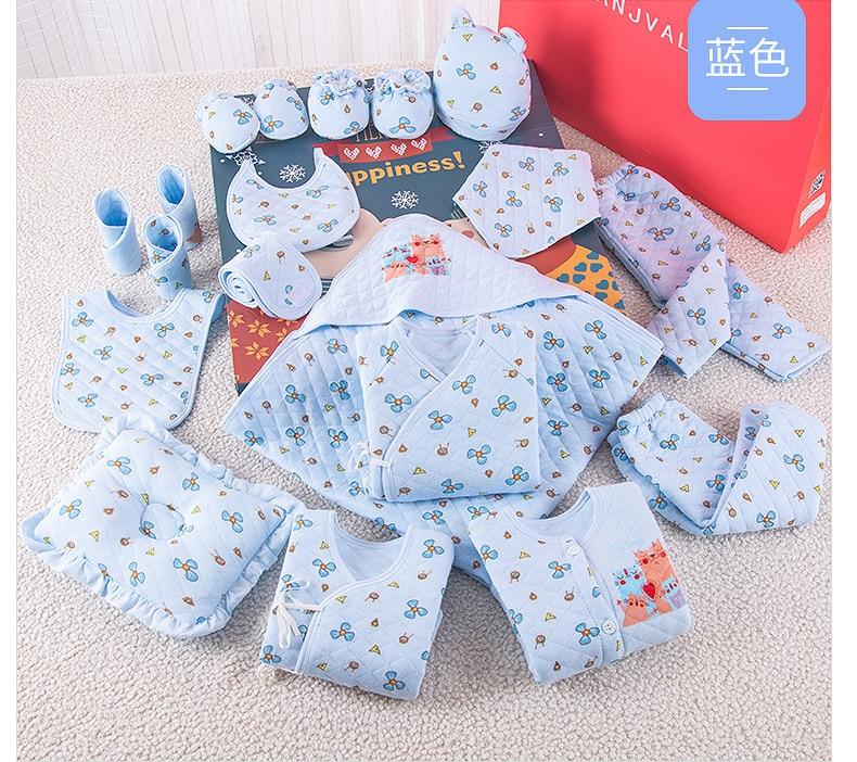 19 pièces nouvel an cadeau pour nouveau-né bébé fille vêtements 100% coton mignon infantile nouveau-né vêtements ensemble bébé garçon vêtements 3 couleurs