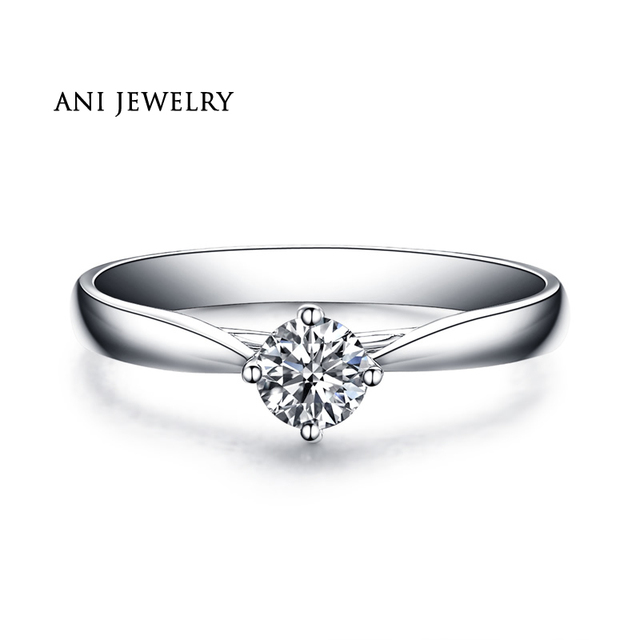 Womens white gold diamond ring with natural solitaire diamond ve3NIKOOIu