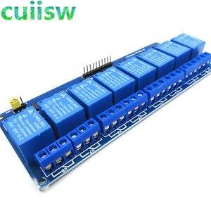 Релейный модуль постоянного тока 5 в с оптопара, низкоуровневая Плата расширения триггера для релейного модуля для arduino 1 2 4 8 CH