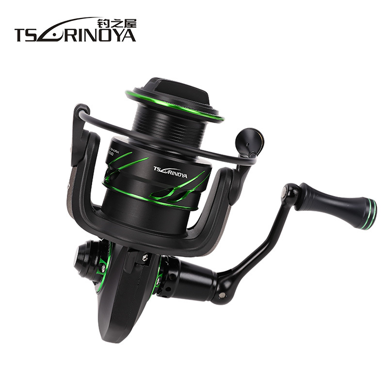 TSURINOYA New FLYING SHARK 2000/3000 Spinning Fishing Reel 11+1BB 6.2:1 Max Drag 8kg Saltwater Freshwater Lightweight Lure Reel tsurinoya tsp3000 spinning fishing reel 11 1bb 5 2 1 full metal max drag 8kg jig ocean boat lure reels carretes pesca molinete