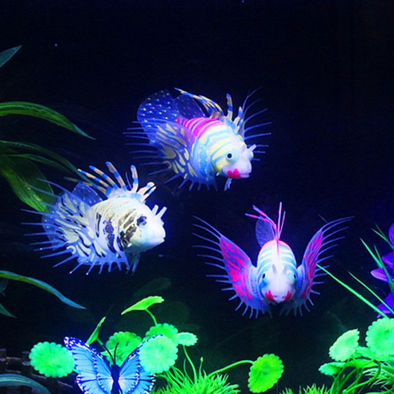 Tank Aquarium Decoration Accessories Silicone Fish