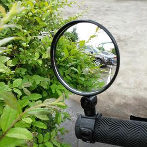 دراجة الرؤية الخلفية المقود مرايا الدراجات الرؤية الخلفية MTB الدراجة سيليكون مقبض مرآة الرؤية الخلفية