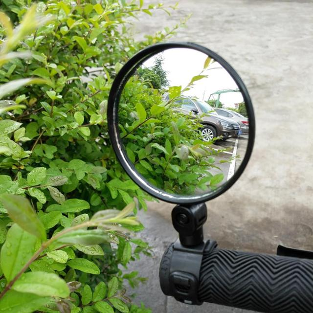 Bicycle Rearview Handlebar Mirrors Cycling Rear View MTB Bike Silicone Handle Rearview Mirror 1