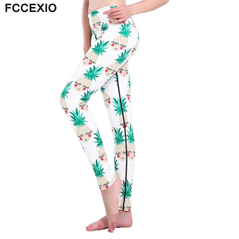 Femmes 3 D Flamant Rose Imprimé Gothique Grande Taille Taille Haute Sport Leggings Neuf