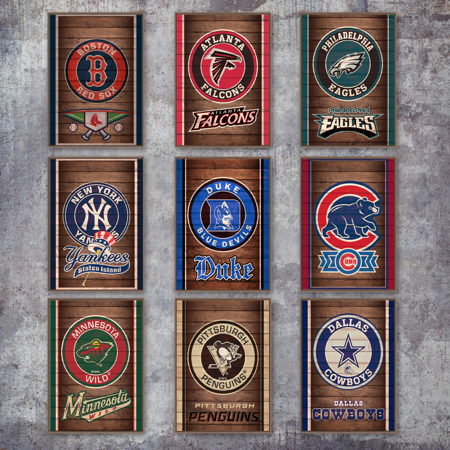 891615c3d NFL Logo New York Yankees Chicago Cubs Wall Art Canvas Painting Nordic  Posters And Prints Wall Pictures For Living Room Decor-in Painting    Calligraphy from ...