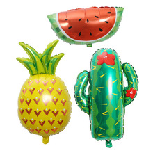 Mexicos carnival party balloon decoration pineapple tropical fruit cactus watermelon aluminum film подставка для шаров