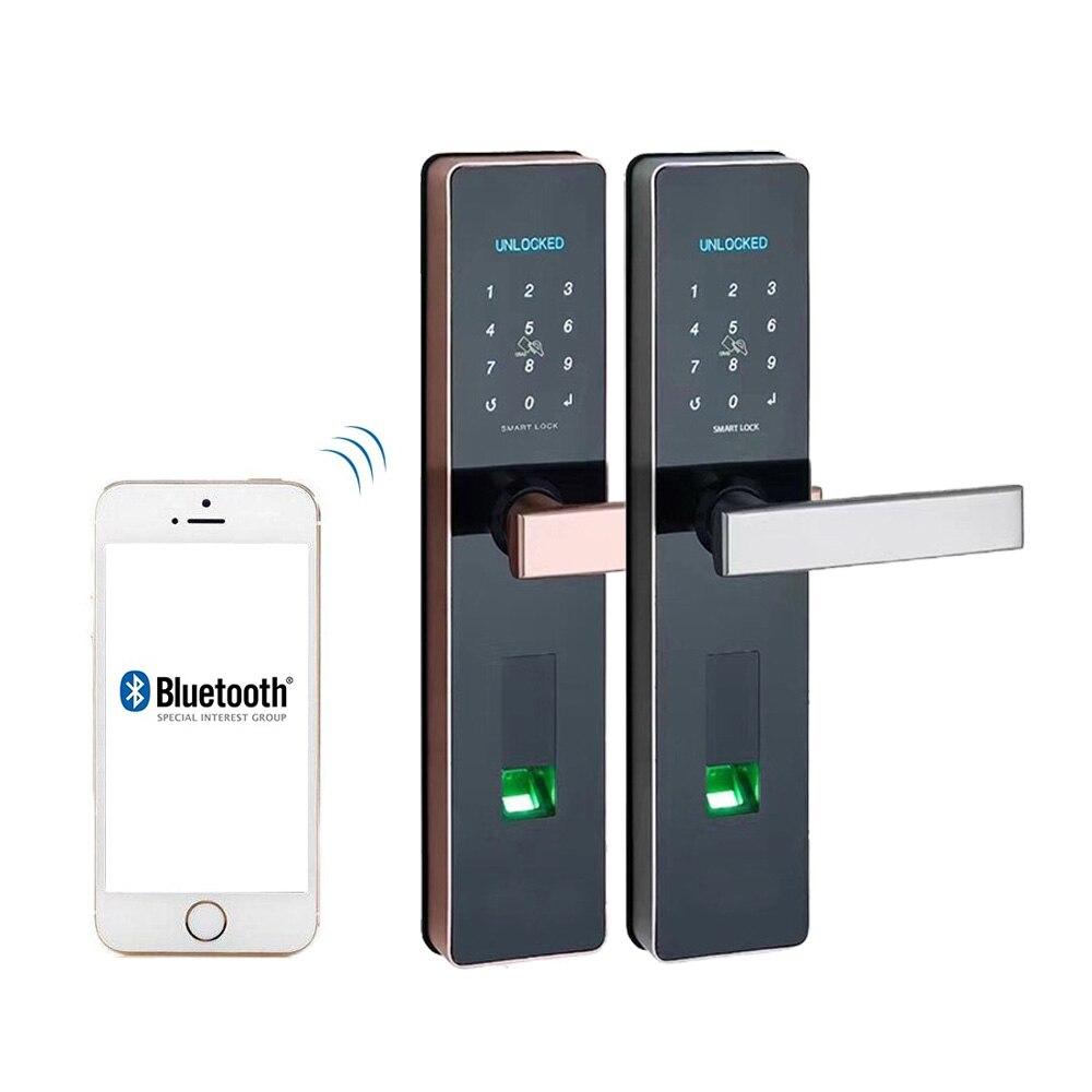 Serrure électronique imperméable de porte, serrure d'empreinte digitale, serrure biométrique de porte avec Wifi Bluetooth, sécurité sans clé de porte de serrure numérique