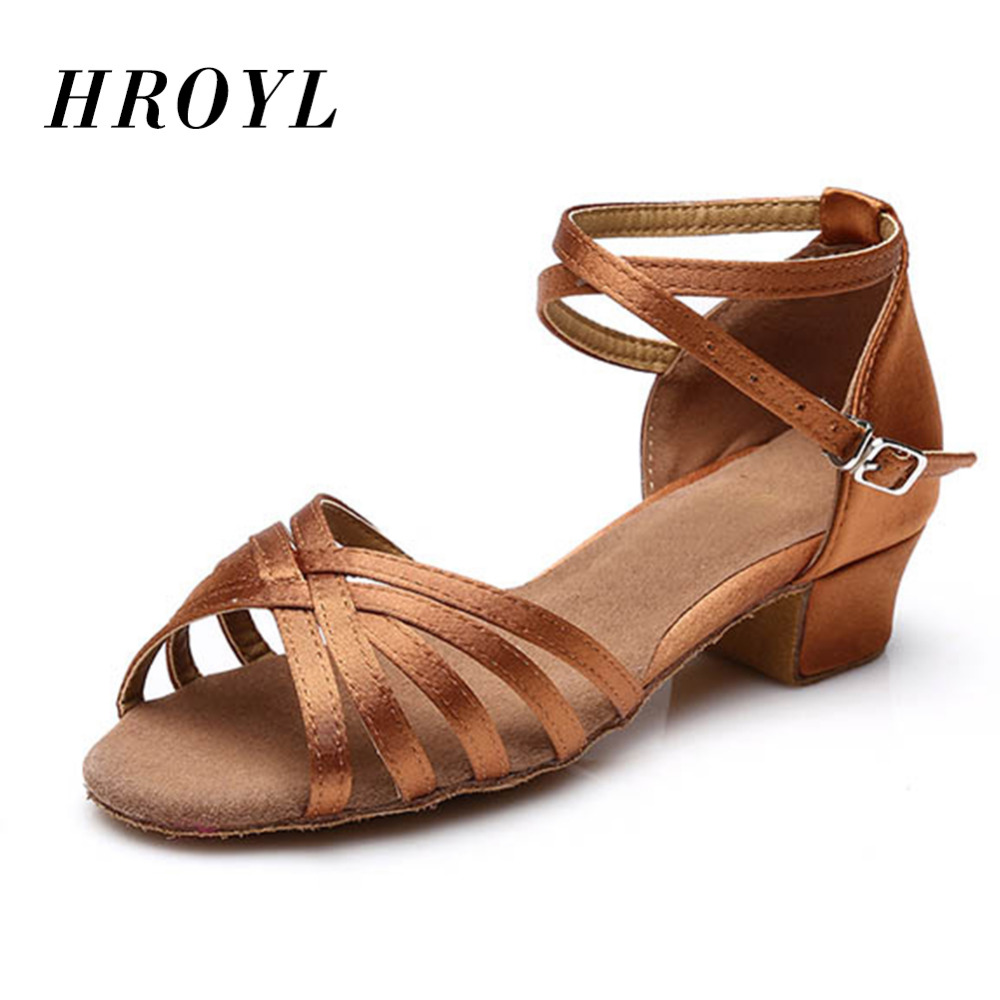 Free Shipping Brand New Children's Ballroom Latin Tango Dance Shoes Heeled  Sale Promotion 5 Kinds Of Colors 3.5cm Heels Black