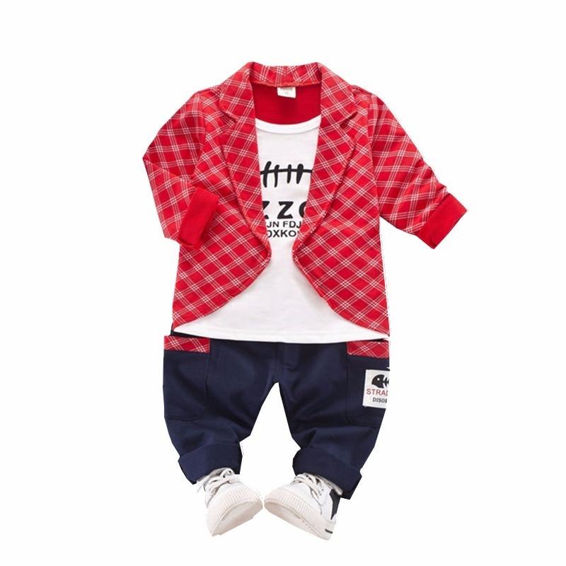 2019 pavasara rudens bērnu zēni meitenes formāli apģērbu komplekti Toddler modes apģērbi bērni T-kreklu bikses 2gab.