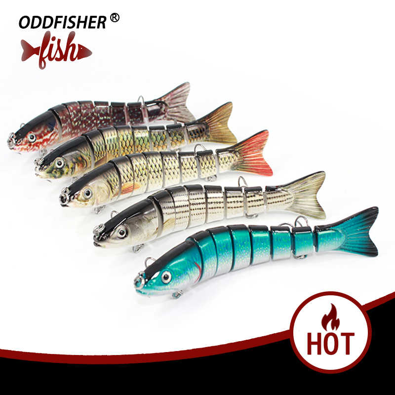 1 PCS Jointed Fishing Lures 8 Segment  Plastic Iscas Artificials 14CM 29G Wobbler Fishing Lifelike Swimbait Sinking Baits Tackle