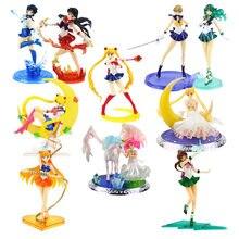 15-20cm super Sailor moon anime marinero Marte mercurio Júpiter Venus 1/8 PVC figura de acción juguetes de modelos coleccionables
