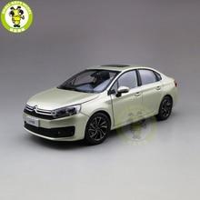 1/18 C4 C4L Diecast Model Auto Speelgoed Kids Jongen Meisje Geschenken Goud