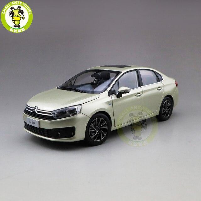 1/18 C4 C4L Diecast auto modell Spielzeug Kinder Junge Mädchen GESCHENKE Gold