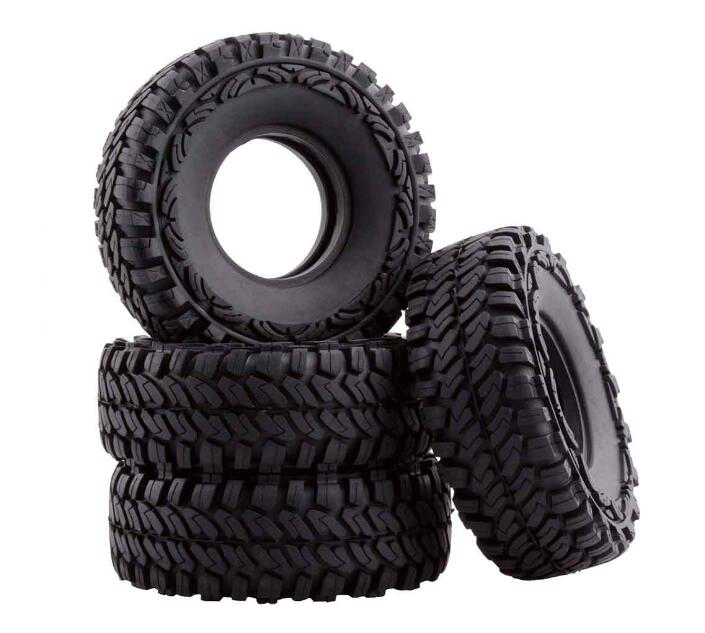 Free Shipping 4PCS 1 9 RC Crawler Rubber Tire Skin With Foam Fit For Axial SCX10