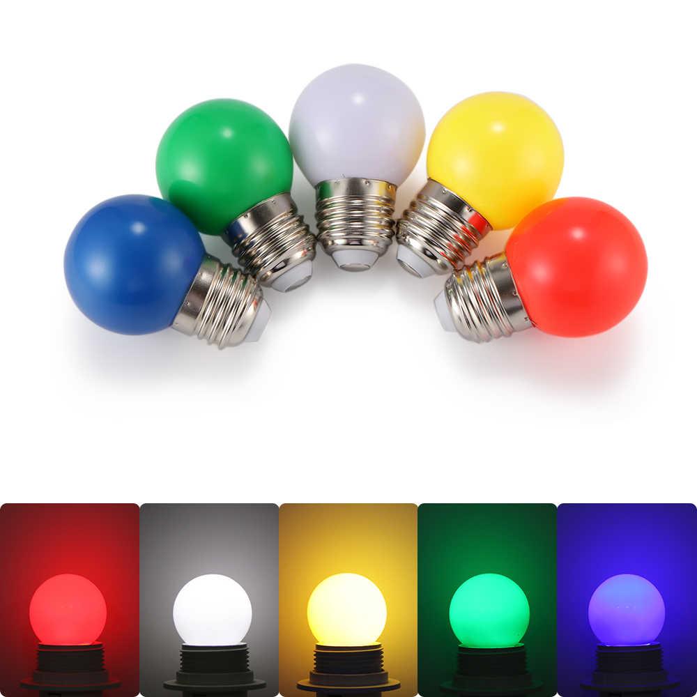Coloured E27 0.5W Energy Saving 6 LED Light Bulbs Globe Lamp DIY 5 color Bright