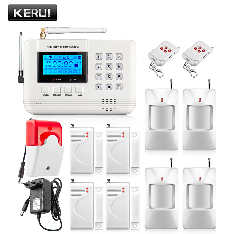 ФОТО Hot Selling Free Shipping wholesale Wireless PSTN GSM Alarm System 433MHz Home Burglar Security Alarm System
