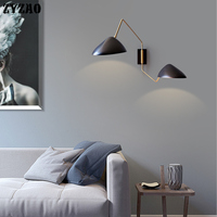 Designer Flexible Duckbilled Wall Lamps Nordic Creative Personality Bedroom Bedside Lamp Model Living Room Rotary Arm Wall Light