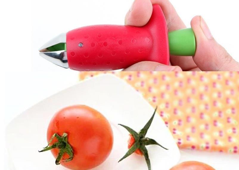Кухонная посуда инструмент гаджеты PP пластик нержавеющая сталь лезвие клубника регулятор