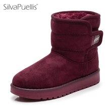 Фотография SilvaPuellis New Winter Simple Fashion Children Snow Boots Kids Fur Plush Rubber Boots Children Boy Girls Round Toe Snow Boots