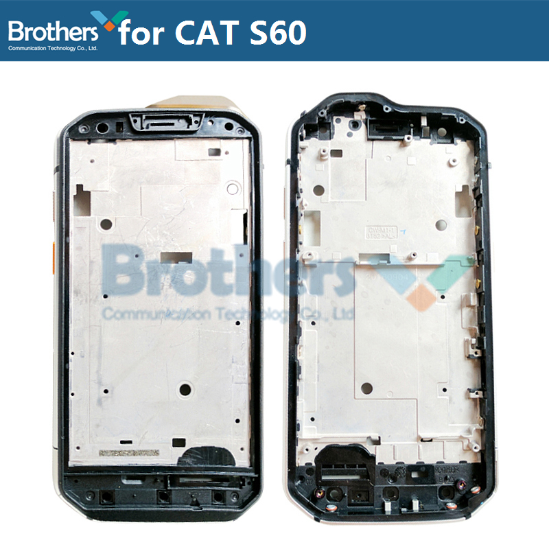 Front Frame For CAT S60 LCD Frame Front Bezel Housing For CAT S60 Screen Frame With Button Original Phone Repair Part Test Work