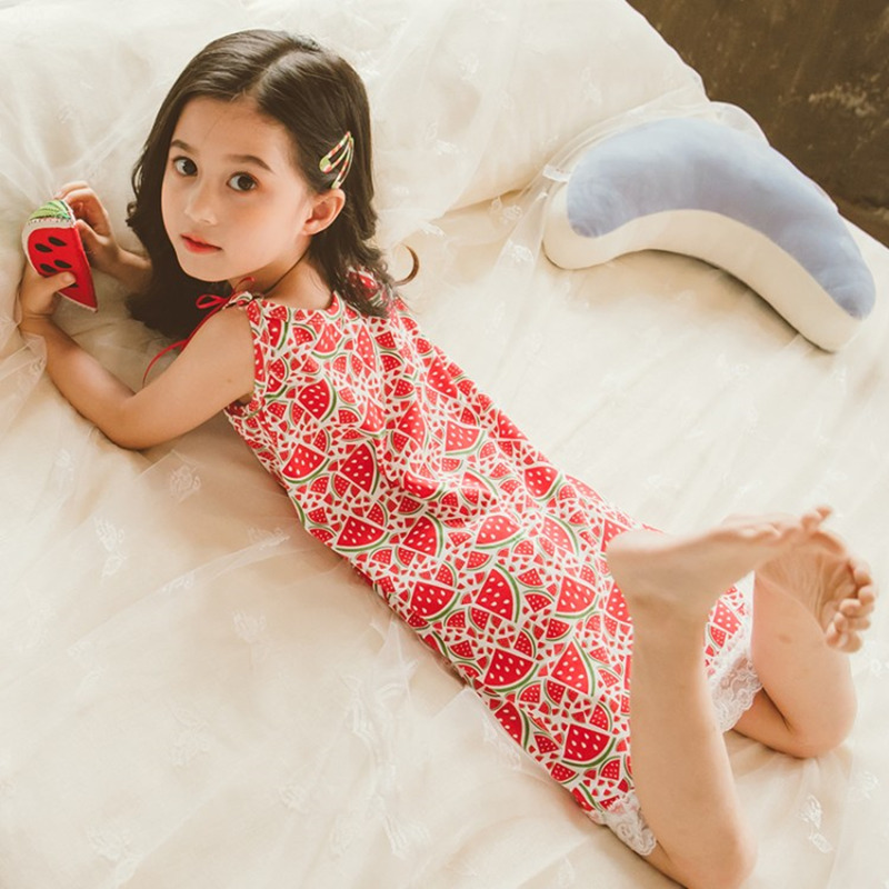 Summer <font><b>Girl</b></font> Dressing <font><b>Night</b></font> Gown <font><b>Dress</b></font> Little Toddler <font><b>Girl</b></font> Nightgown One-piece Pajamas <font><b>Sexy</b></font> <font><b>Girls</b></font> pjs for Kids Pijamas Nightdress image