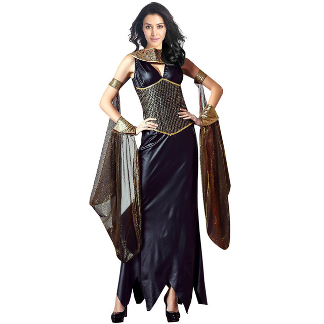 Deluxe Queen of the Pyramids Cleopatra Costumes Womenu0027s Egyptian Goddess Costume Cosplay Halloween Masquerade Party Dress  sc 1 st  AliExpress.com & Deluxe Queen of the Pyramids Cleopatra Costumes Womenu0027s Egyptian ...
