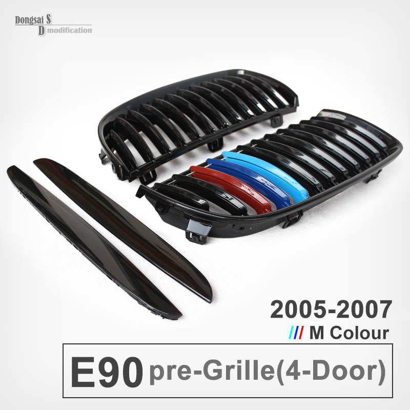 Taiwan Origin Dual Front Grilles For 3 Series E90 318i 320i 330i 325i 2005 - 2008 Pre-LCI 4-Door Sedan Great Look M Color for bmw 3 series e36 318 328 323 325 front coilover strut camber plate top mount green drift front domlager top upper mount