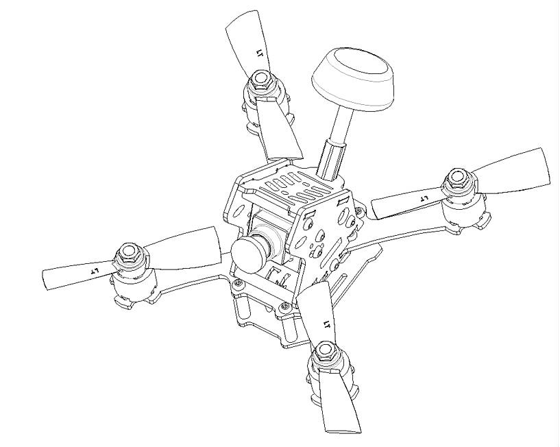 Mini Racing Drone Kit Aircraft Quadcopterpure Carbon Fiber Frame