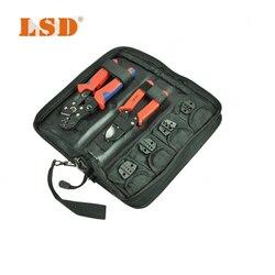 Zaciskania narzędzia zestaw z narzędzie do zaciskania  nożyce do kabli i wymienne umiera elektryczny zestaw narzędzi
