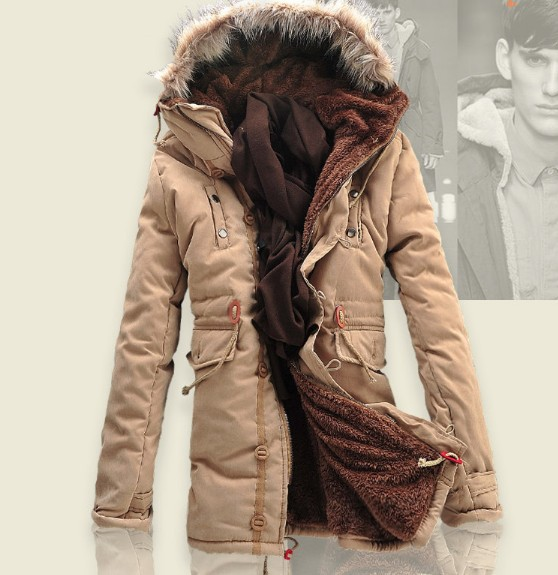 Aliexpress.com : Buy Thick Warm Long Winter Jackets Men Fur Hood ...