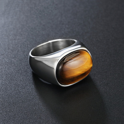 Tiger Eye Rings Wholesale Lots 1pcs 925 Sterling Silver Plated Handmade Ring