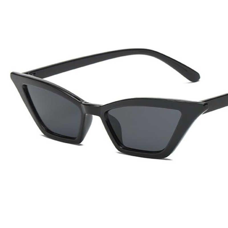 Новое поступление, маленькая оправа, кошачий глаз, солнцезащитные очки для женщин, 2018, квадратные, винтажные, прозрачные, розовые, красные, фирменный дизайн, Ретро стиль, дешевые очки, UV400
