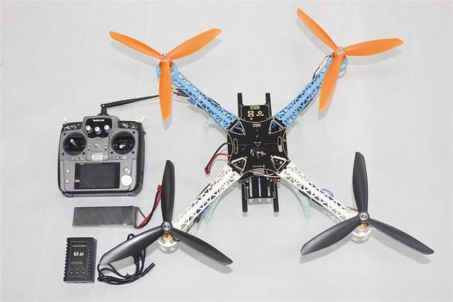 Zangão DIY Atualizado Kit Completo S500-PCB 1045 3-Propeller 4 Eixo Multi QuadCopter ORKUT/ARF com 10ch TX/RX 3300 Mah Lipo F08191-C