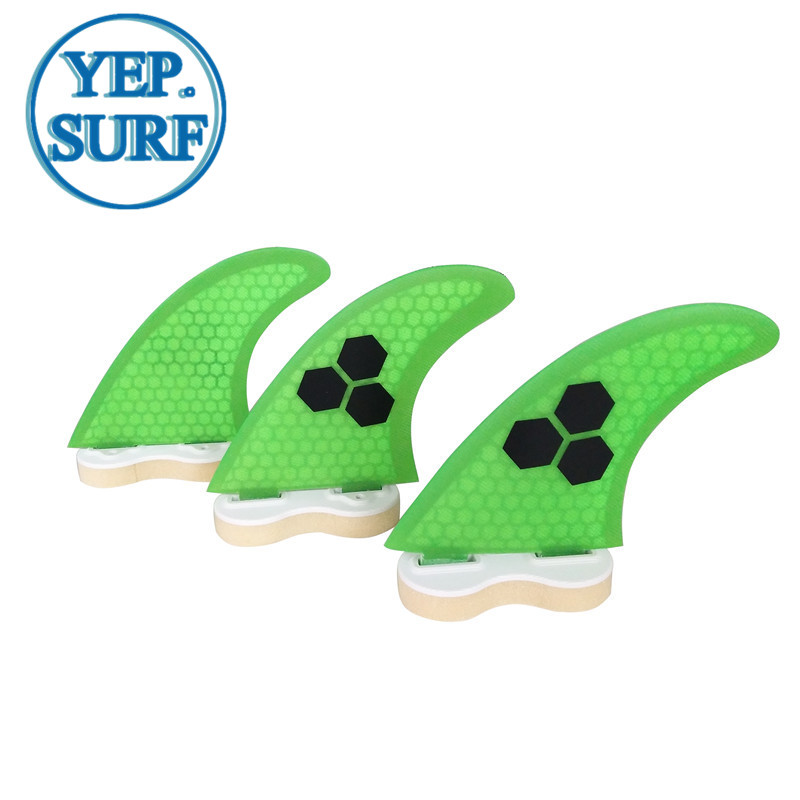 Surfboard Fibreglass Fin FCS G3 Fin Honeycomb Surf Fin G3 Quilhas Surf FCS Fin green 3 colors black logo in Surfing from Sports Entertainment