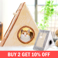Cloth Cat Scratchers House Scratching Post Protecting Furniture Grinding Claws Cat Scratcher Toy Accessories Supplies Products