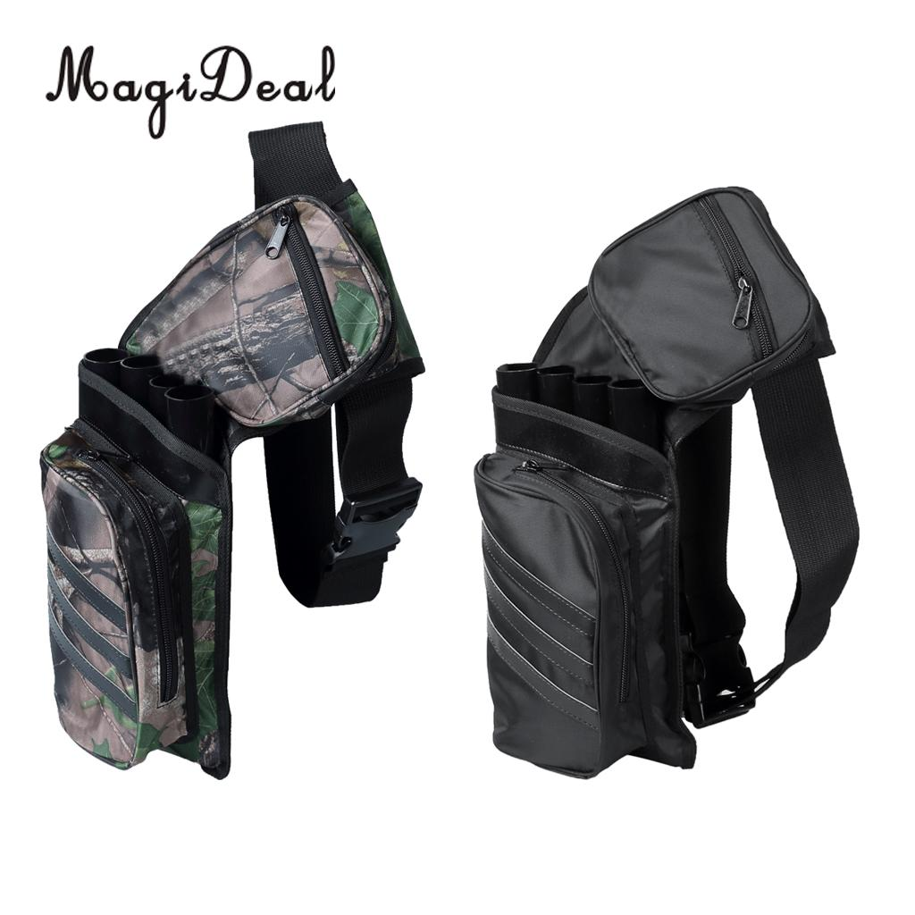 MagiDeal Hot Professional Archery Arrow Quiver Holder Belt Waist Recurve Bow Hunting Shooting Sports - 3/ 4 Tubes Camo/Black dmar archery quiver recurve bow bag arrow holder black high class portable hunting achery accessories