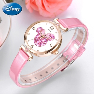 Image 3 - Women Lovely Pretty Smart Minnie Cuties Watch Girl Beautiful Pink Leather Strap Quartz Clock Gift Luxury Crystal Youth Lady Time
