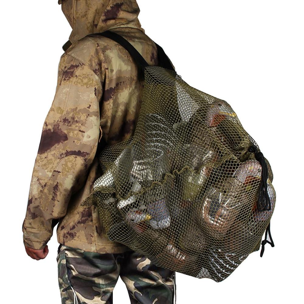 The Best Duck Decoys Bag With Shoulder Straps Mesh Backpack Decoy Bag Pigeon/dove Carry Large Decoy Storage Net Bag For Hunting