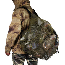 Duck Decoys Bag With Shoulder Straps Mesh Backpack Decoy Bag Pigeon/Dove Carry Large Decoy Storage Net Bag for Hunting hunting gadwall duck decoy electric flying duck motorized duck decoy with remote control